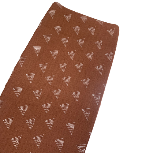 Muslin Changing Pad Cover, Rust Mountain