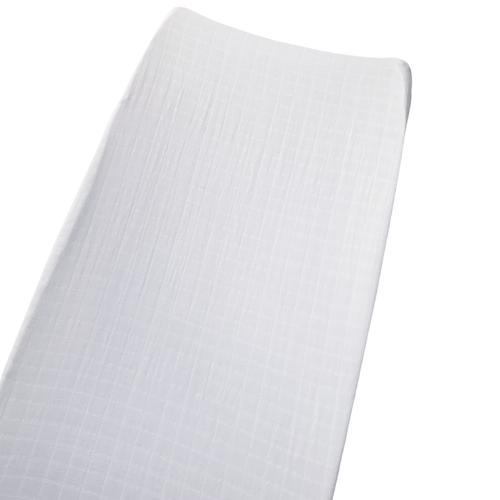 Muslin Changing Pad Cover, Basic White