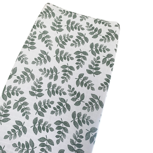 Muslin Changing Pad Cover, Sage Fern