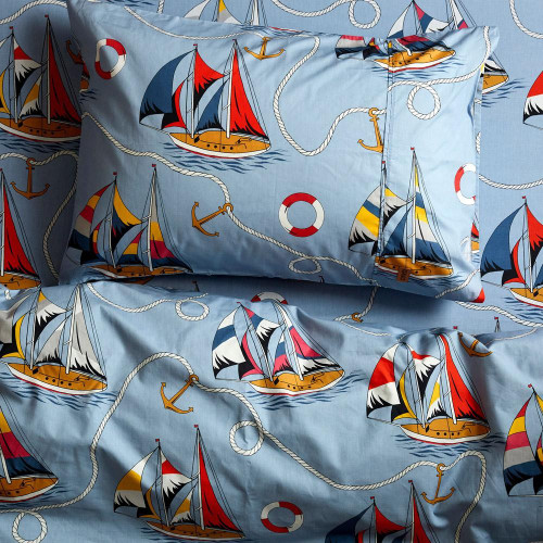 Twin Cotton Quilt Cover, Hey Sailor