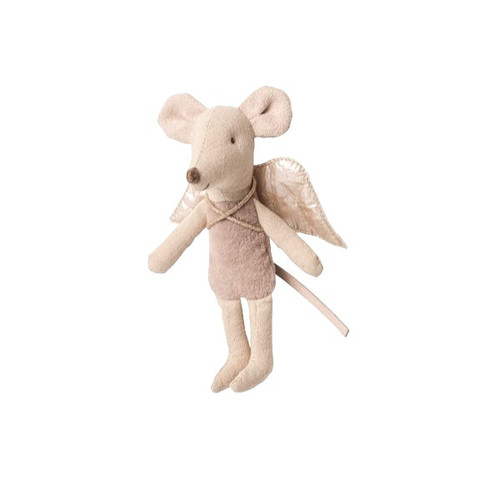 Mouse Baby Fairy Ornament, Purple