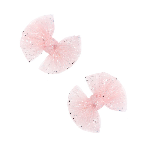 2-Pack Tulle Baby FAB Clips, Princess Pink