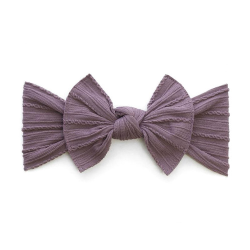 Cable Knit Knot Bow, Lilac