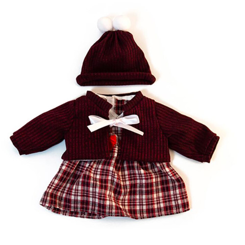 Cold Weather Dress Set for Miniland Doll