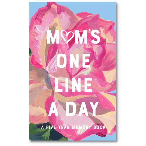 Mom's One Line a Day - A Five-Year Memory Book (Floral)