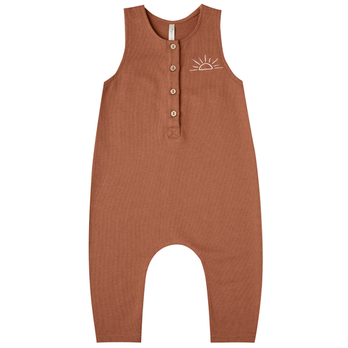 Rylee & Cru French Terry  Jumpsuit, Embroidered Sunrise