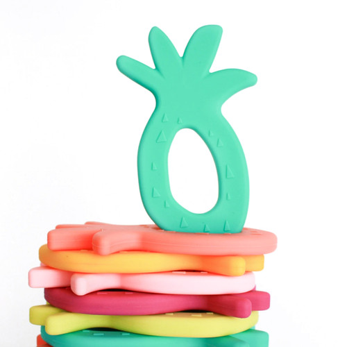 Silicone Pineapple Teether, Tropical