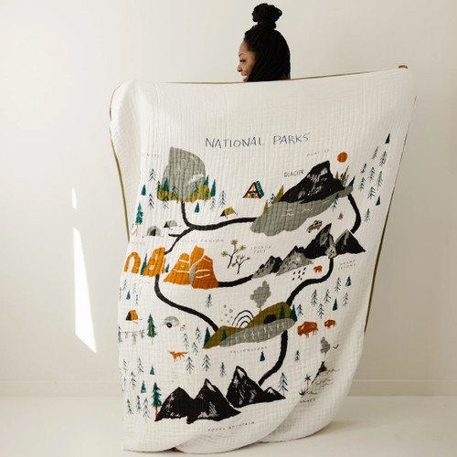 National Parks Large Muslin Throw Blanket