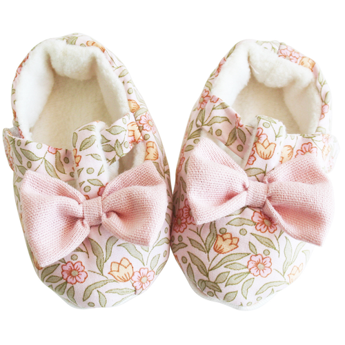 Bow Booties, Blossom Lily Pink