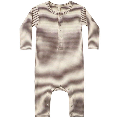 Ribbed Jumpsuit, Charcoal Stripe