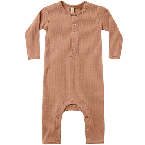 Ribbed Jumpsuit, Terracotta