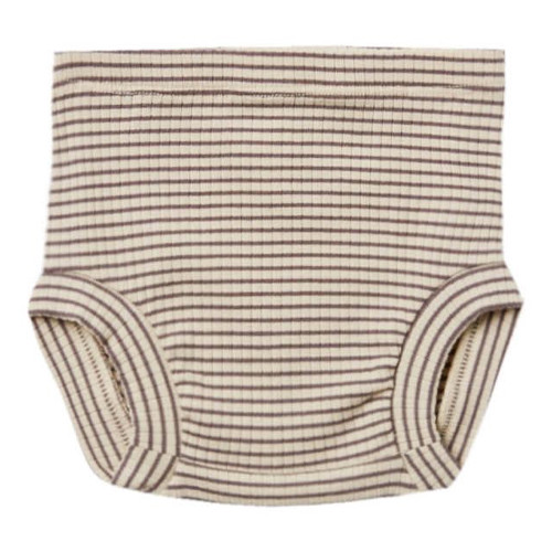 Ribbed Bloomer, Charcoal Stripe