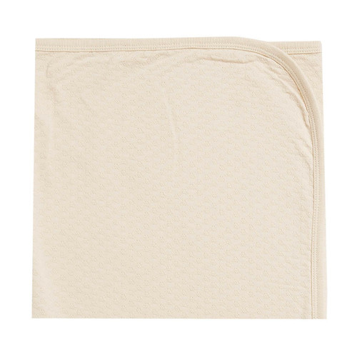 Pointelle Baby Blanket, Natural