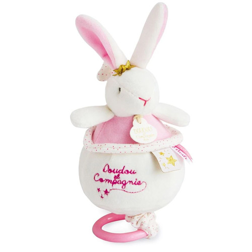 Star Pink Bunny Musical Pull Toy