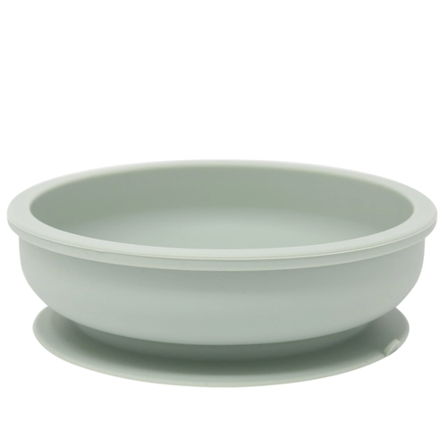 Silicone Suction Snack Bowl, Sage
