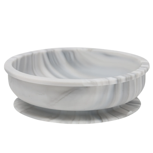 Silicone Suction Snack Bowl, Marble
