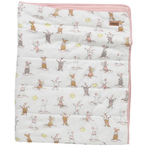 Quilted Cot Bedspread, Mousing Around