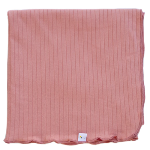 Stretch Ribbed Swaddle / Luxe Salmon