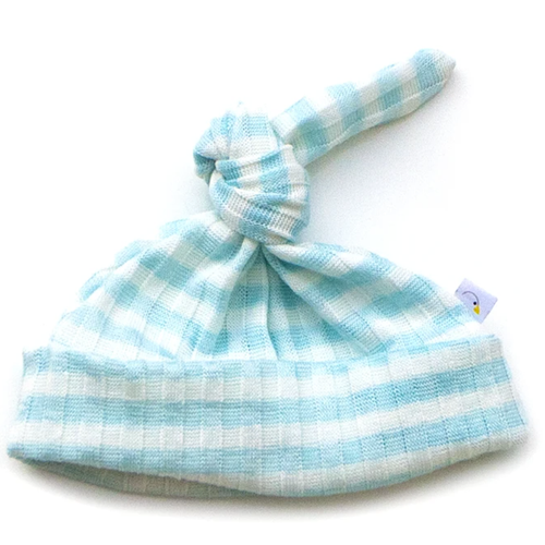 Knotted Hat / Blue Stripe