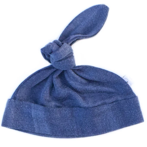Knotted Hat / Distressed Blue