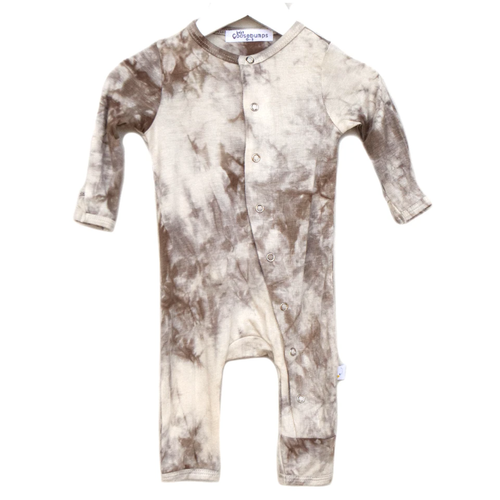 One Piece Snap Romper, Toasted Coconut Tie Dye