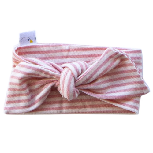 Knotted Headband / Coral Stripe