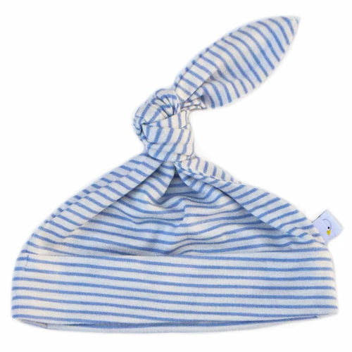 Knotted Hat / Blue Pin Stripe
