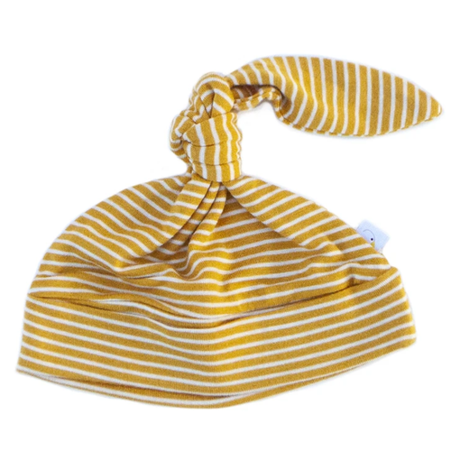 Knotted Hat / Mustard Pin Stripe