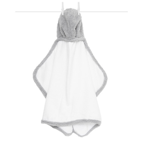 Chenille Baby Towel, Silver