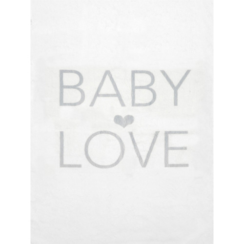 LUXE™ Baby LOVE Blanket, Silver