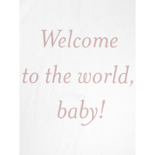 Luxe Welcome to the World, Baby! Blanket, Dusty Pink