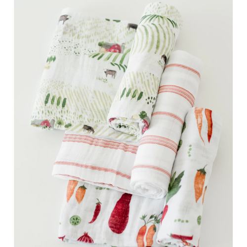 Muslin Swaddle Set, Farmers Market