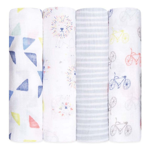 Muslin Swaddle 4-Pack, Leader of the Pack