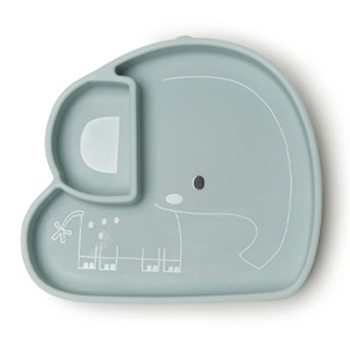 Silicone Suction Snack Plate, Elephant