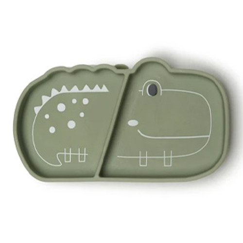 Silicone Suction Snack Plate, Alligator