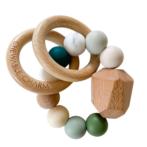 Hayes Silicone + Wood Teether, Winter