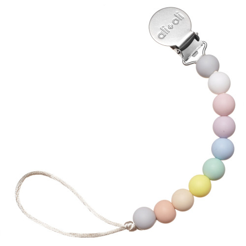 Silicone Pacifier Clip, Thin Pastel