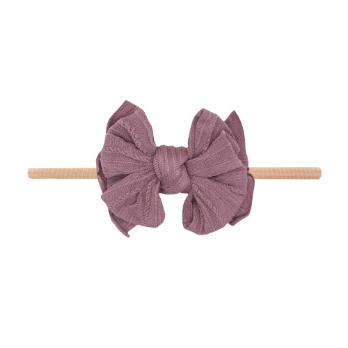 Cable Knit Lil FAB Skinny Bow, Lilac