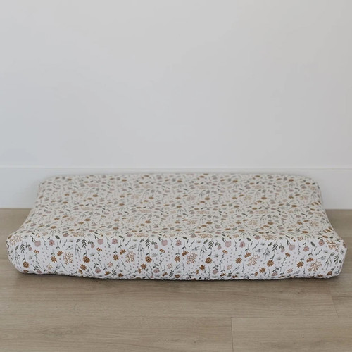 Muslin Changing Pad Cover, Meadow Floral