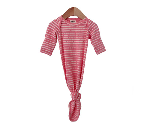 Knot Gown, Pink Stripe