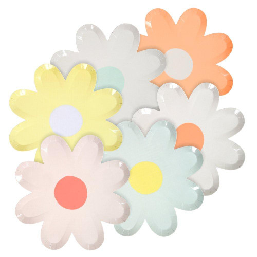 Pastel Daisy Large Party Plates
