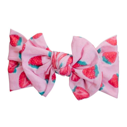 Classic Knot Bow, Strawberries