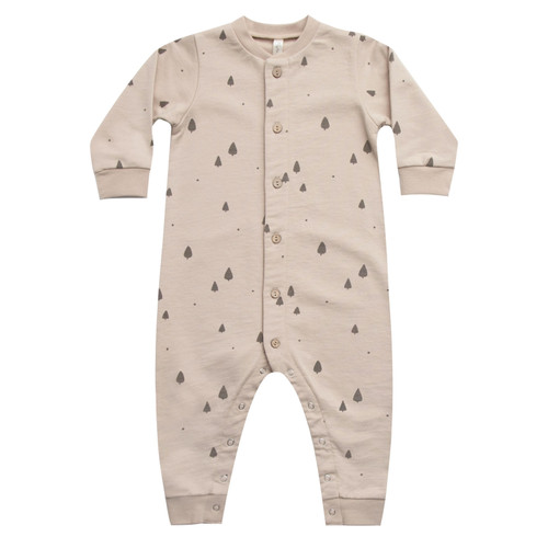 Rylee & Cru Button Down Jumpsuit, Trees