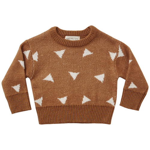 Rylee & Cru Knit Pullover, Triangles