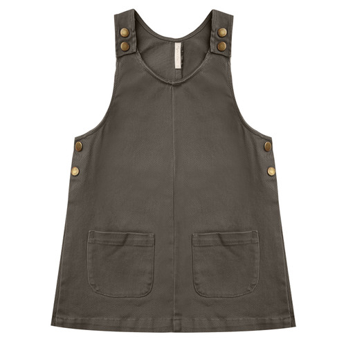 Rylee & Cru Odette Overall Dress, Charcoal