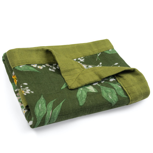 Bamboo Mini Lovey, Green Floral