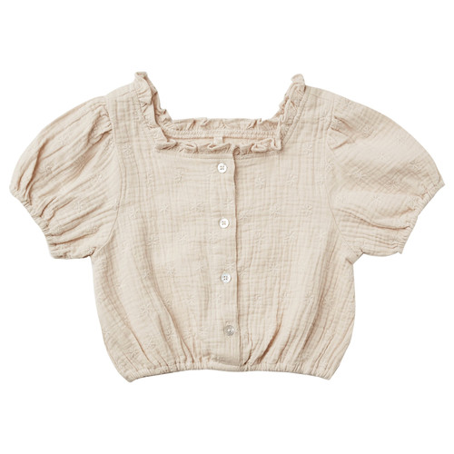 Rylee & Cru Dylan Blouse, Embroidered Daisy