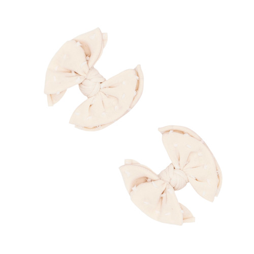2-Pack Baby SHAB Clips, Oatmeal Dot