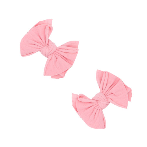 2-Pack Baby SHAB Clips, Zinnia/Pink Dot