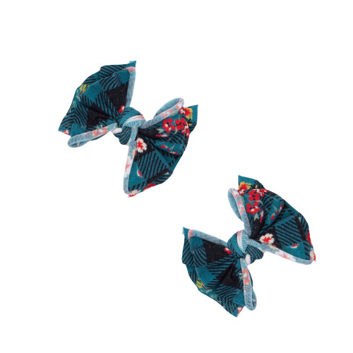 2-Pack Baby FAB Clips, Floral Plaid